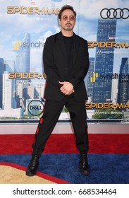 "HOLLYWOOD - JUN 28:  Robert Downey Jr. arrives to the ""Spider-Man Homecoming"" World Premiere  on June 28, 2017 in Hollywood, CA"