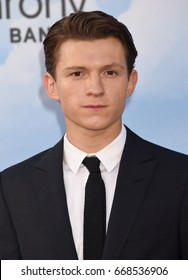 "HOLLYWOOD - JUN 28:  Tom Holland arrives to the ""Spider-Man Homecoming"" World Premiere  on June 28, 2017 in Hollywood, CA"