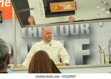 HOLLYWOOD - JUNE 14: Top Chef Hosea Rosenberg giving a cooking demonstration on the Top Chef: The Tour 2 June 14, 2010 Hollywood, California.