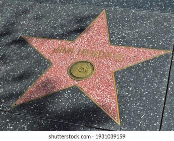 Hollywood, Los Angeles, CA, USA 03.08.2015: Jimi Hendrix Star