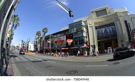 Hollywood, Los Angeles, USA -05.27.2017: Chinese Theater and Hollywood boulevard.