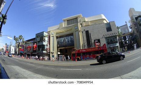 Hollywood, Los Angeles, USA -05.27.2017: the Chinese Theater from the opposite street.