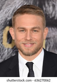 """HOLLYWOOD - MAY 8:  Charlie Hunnam arrives to the """"King Arthur: Legend Of The Sword"""" World Premiere  on May 8, 2017 in Hollywood, CA"""