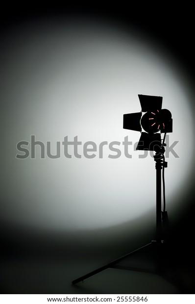 Hollywood Movie Light Barn Doors Shadows Stock Photo Edit
