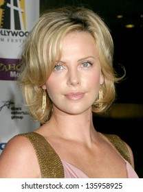 HOLLYWOOD - OCTOBER 24: Charlize Theron participates at Hollywood Film Festival Gala in Beverly Hilton Hotel October 24, 2005 in Los Angeles, CA.