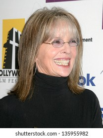 HOLLYWOOD - OCTOBER 24: Diane Keaton participates at Hollywood Film Festival Gala in Beverly Hilton Hotel October 24, 2005 in Los Angeles, CA.