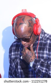 HOLLYWOOD - SEPTEMBER 6, 2012: Rapper Birdman walks the red carpet for Beats By Dr Dre & Lil Wayne VMA After Party at the Playhouse Nightclub September 6, 2012 Hollywood, CA.