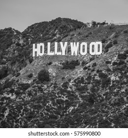 Hollywood Sign, Black and White