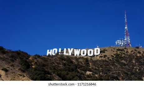 Hollywood sign in November 2017, Hollywood, California, United State