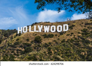 Hollywood Sign - Taken on April 17, 2017. Viewed from Griffith Park, California USA.