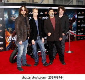 "HOLLYWOOD, USA - APRIL 11: Chris Cornell and Soundgarden at the Los Angeles Premiere of ""The Avengers"" held at the Grauman's Chinese Theater in Los Angeles, USA on April 11, 2012."