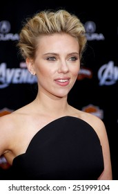 """HOLLYWOOD, USA - APRIL 11: Scarlett Johansson at the Los Angeles Premiere of """"The Avengers"""" held at the Grauman's Chinese Theater in Los Angeles, USA on April 11, 2012."""
