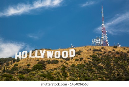 Hollywood, USA - May 29 2018: Hollywood Sign, Hills, Hollywood, Los Angeles, California United States of America North America