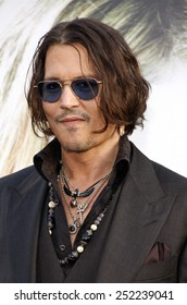 "HOLLYWOOD, USA - MAY 7: Johnny Depp at the Los Angeles Premire of ""Dark Shadows"" held at the Grauman's Chinese Theater in Hollywood, Los Angeles, USA on May 7, 2012."