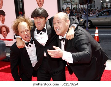 """HOLLYWOOD, USA - Sean Hayes, Chris Diamantopoulos and Will Sasso at the World Premiere of """"The Three Stooges: The Movie"""" held at the Grauman's Chinese Theater in Los Angeles, USA on April 7, 2012."""