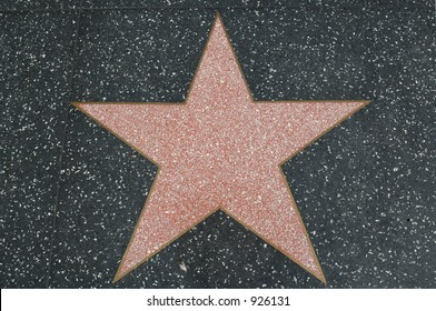 Hollywood walk of fame star (blank real star)