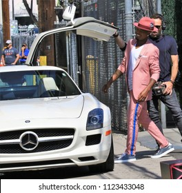 HOLLYWOOD-JUNE 20 2018: Rapper Ne-Yo is in Hollywood for an appearance on Jimmy Kimmel Live! June 20, 2018.