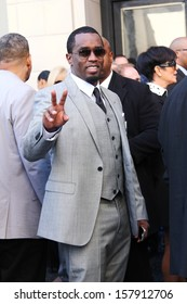 """HOLLYWOOD-OCTOBER 10, 2013: Sean """"Puffy"""" Combs attends Hollywood Walk of Fame ceremony for Kenneth """"Babyface"""" Edmonds October 10, 2013 Hollywood, CA."""