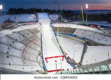 Holmenkollen Ski Jump Tower, Oslo Norway, Dec 31 2018