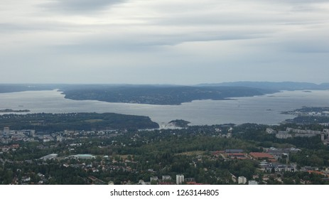 Holmenkollen and view of Oslo