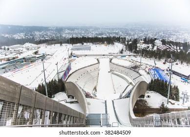 Holmenkollen,OSLO, NORWAY : Holmenkollen ski jump on February 13, 2016