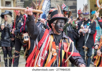 Holmfirth, UK - May  9rd, 2015: Traditional Morris Dance performers at the annual Holmfirth Festival