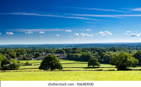 Holmwood common in Surrey at the foot of the north downs and the Surrey hills