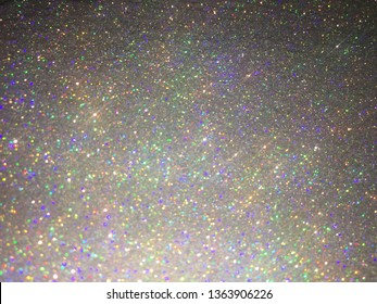 Holo silver (rainbow) glitter sparkle abstract background