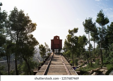 Holocaust death train at Yad Vashem in Jerusalem. train in which the Nazis transported Jews and prisoners of war for destruction in concentration camps.