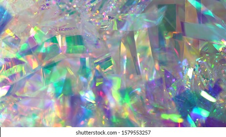 Holographic iridescent neon gradient background. Abstract blurred foil texture with multiple rainbow colors