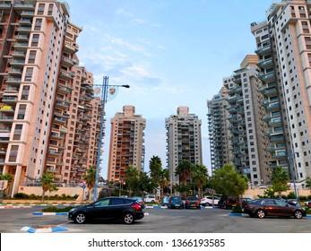HOLON, ISRAEL- SEPTEMBER 20, 2019: High residential buildings in Holon, Israel