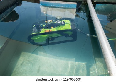 HOLON, ISRAEL - SEPTEMBER 28, 2018: Remotely Operated Underwater Vehicle LBV 200-2 presented on military show