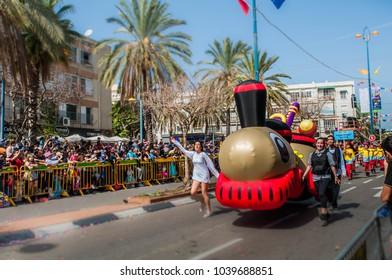 Holon. Izrail. 03/01/2017 Carnival of Purim