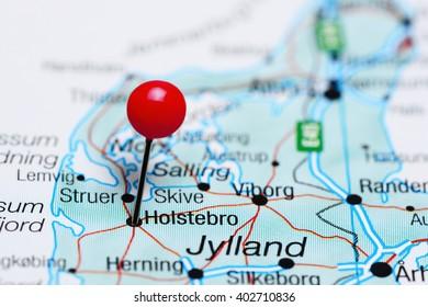 Silkeborg Pinned On Map Denmark Stock Photo (Edit Now) 402710914 ...