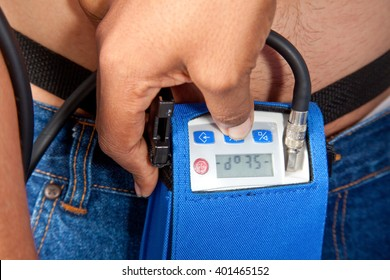 Holter Monitor on a male patient