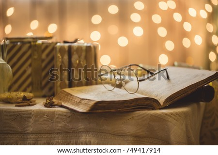 Holy bible book with