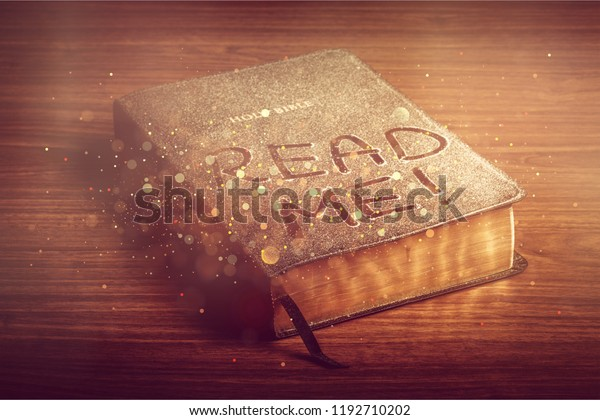 Holy Bible Book Read Me Letters Stock Photo (Edit Now