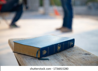 The Holy Bible Closed After an Early Morning Devotional