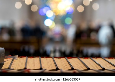 Holy bibles in a church