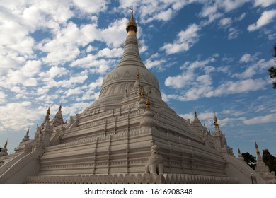 The holy buddhist pagoda in Amarapura of Myanmar.