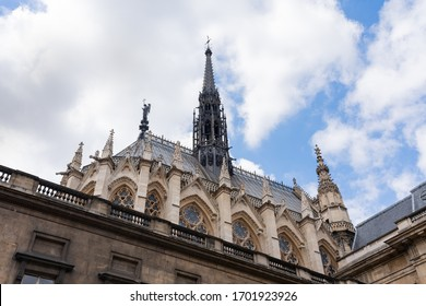 Holy Chapel (The Sainte Chapelle) in Paris, France. Gothic style architecture