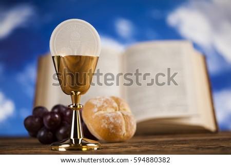 holy communion bread wine christianity religion stock photo edit