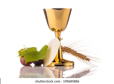holy communion composition isolated on white