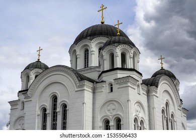 Holy cross Cathedral is a five-domed Cathedral in the neo-Byzantine style, built in 1893-1897 in Polotsk on the territory of the Spaso-Efrosinievsky monastery. Historical and cultural value of Belarus