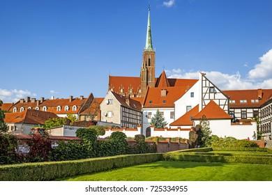 Holy Cross Church in Wroclaw, Poland