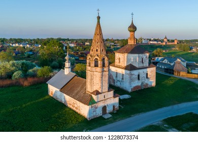 Holy Cross and Kozmodemyanskaya churches in Suzdal, Russia