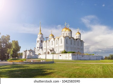 The Holy Dormition Cathedral in Vladimir. The original white-stone cathedral was built in 1158-1160. Russia