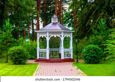 Holy Dormition Monastery - Monastery, Krasnoyarsk, gazebo in the garden