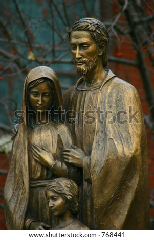 holy family statue jesus mary joseph stock photo edit now 768441