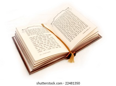 holy Hebrew book isolated on white